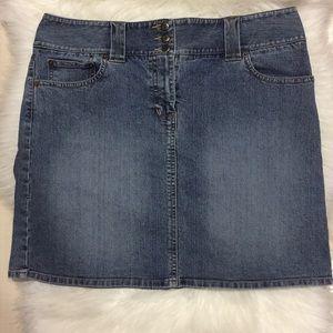 Ann Taylor Loft Blue Wash Denim Skirt